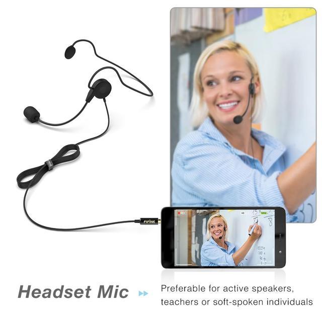 Microfone de Lapela Fifine  para Câmera DSLR e Smartphones - Ideal para Entrevistas e Gravações de Videos.  4