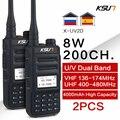 1 или 2 шт. KSUN 8 Вт рация дальнего действия VHF UHF Двухдиапазонная двухсторонняя радиостанция VOX коммуникатор HF приемопередатчик рация