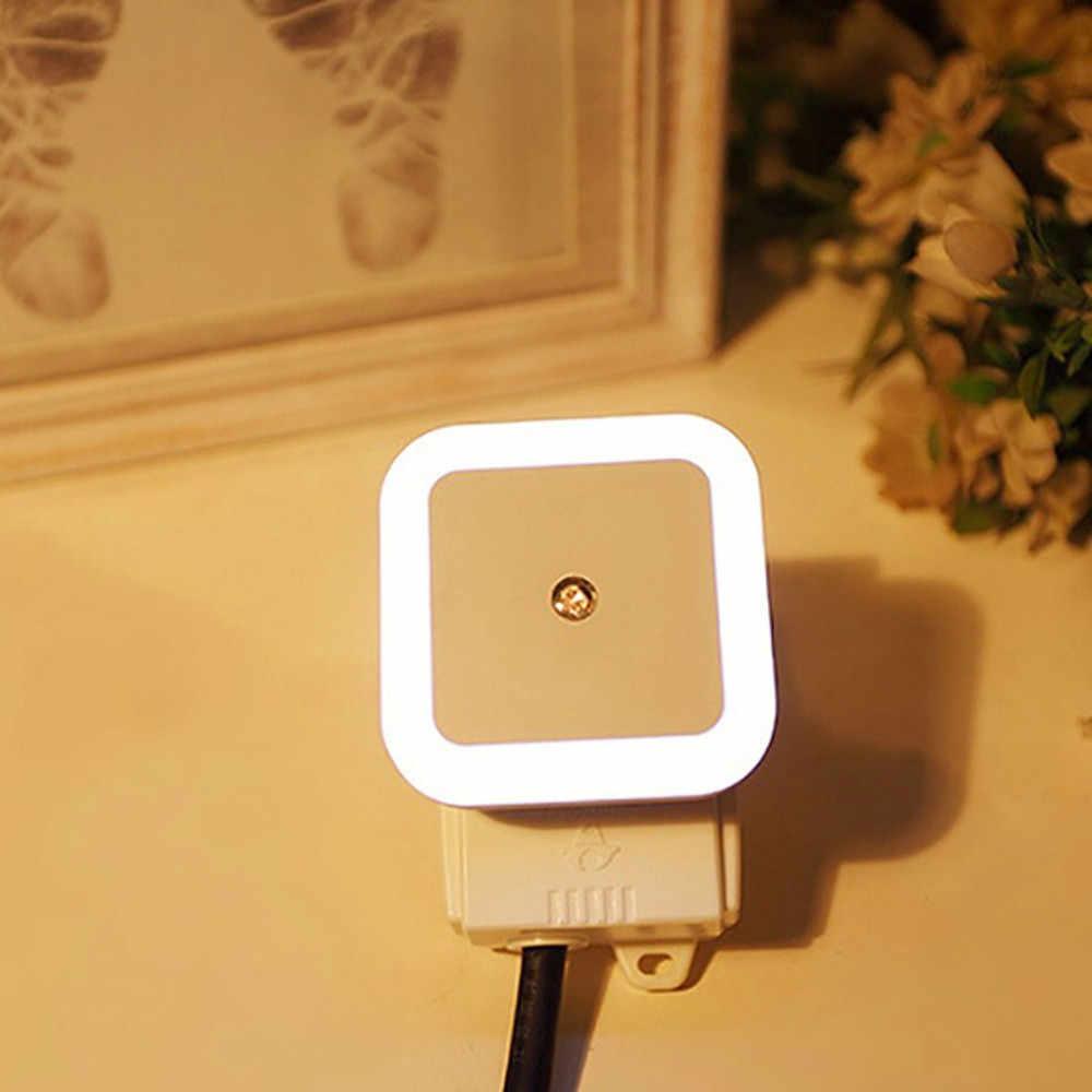 COB MOTION SENSOR LED Malam Lampu Nirkabel Magnetik Kabinet Cahaya 110-240V Uni Eropa Plug Lemari Kamar Tidur Kontrol Sentuh lampu Dinding