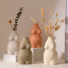 Nordic Style Home Decor Creative Human Vase Ceramic Vase Vases for Flowers Decorative Vase Table Top Office Ceramic Decor