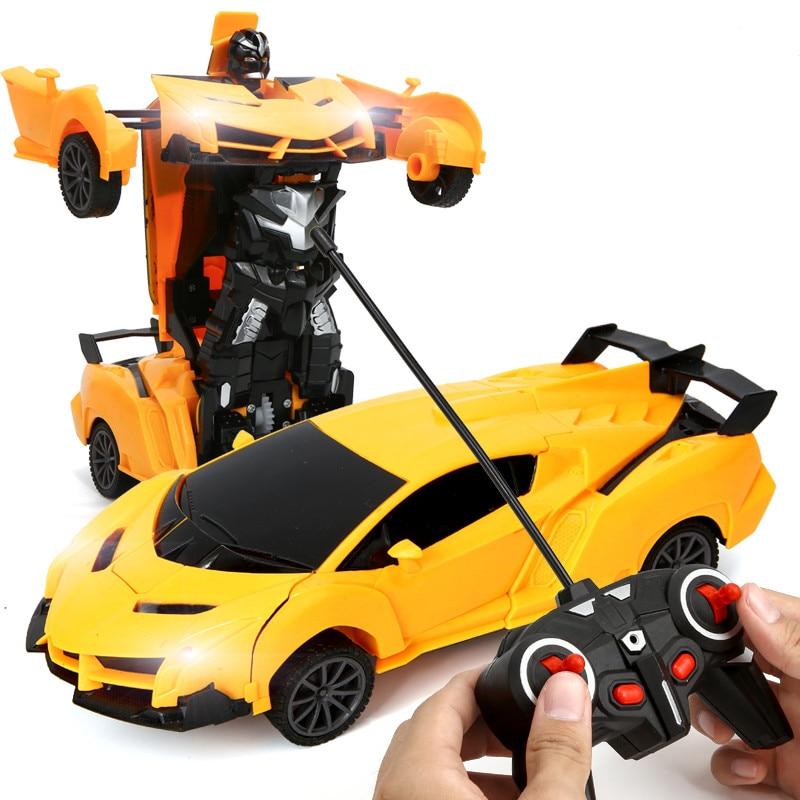 Coche de transformación 2 en 1 RC para niños, Robots, coche de conducción, coches deportivos, modelos de coche de Control remoto, juguete para regalo