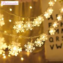 цена Christmas Snowflake String Light Christmas Decorations For Home Merry Christmas Ornaments 2019 Navidad Natal Gift New Year 2020 в интернет-магазинах