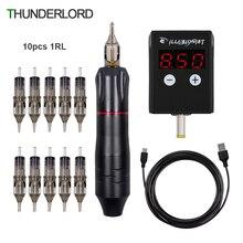 Power-Tattoo-Machine-Kit Needles Power-Supply Rotary-Pen Permanent Professional Wireless