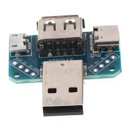XY-USB4 de módulo de 5V, conmutador de cabeza USB macho a hembra a tipo-c a Micro USB a 2,54mm, conector Adaptador convertidor 4P USB