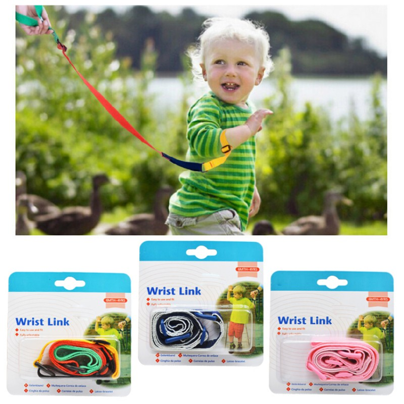 Toddler Kids Baby Safety Walking Harness Anti-lost Strap Wrist Leash Children Hand Belt Rope Safety Traction Rope