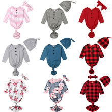 Комбинезон-Пижама для младенцев пеньюар с длинными рукавами, хлопковый спальный мешок, пижамный комплект, домашний наряд для мальчиков и девочек