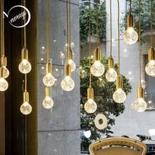 Minimalista e moderno nordic lâmpada de vidro única cabeça personalizado escultura pingente café sala estar restaurante loja loft bar