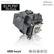 Lámpara de proyector de repuesto ELPLP87 para BrightLink 536Wi,EB 520,EB 525W,EB 530,EB 535W,EB 536Wi,PowerLite 520,V13H010L87