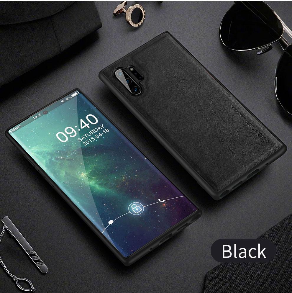 H58e3df79d3f1429d9fe9684a853a4a2fs X-Level Leather Case For Samsung Note 10 Plus Soft Silicone Edge Back Phone Cover For Samsung Galaxy Note 10 Case Note10 Plus