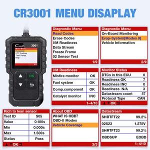 Image 4 - LAUNCH X431 CR3001 OBD 2 أداة تشخيص ماسح ضوئي تلقائي متعدد اللغات قارئ شفرة ODB2 3001 PK ELM327 V1.5 OM123