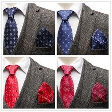 Luxury Mens Tie Handkerchief Set Man Vin