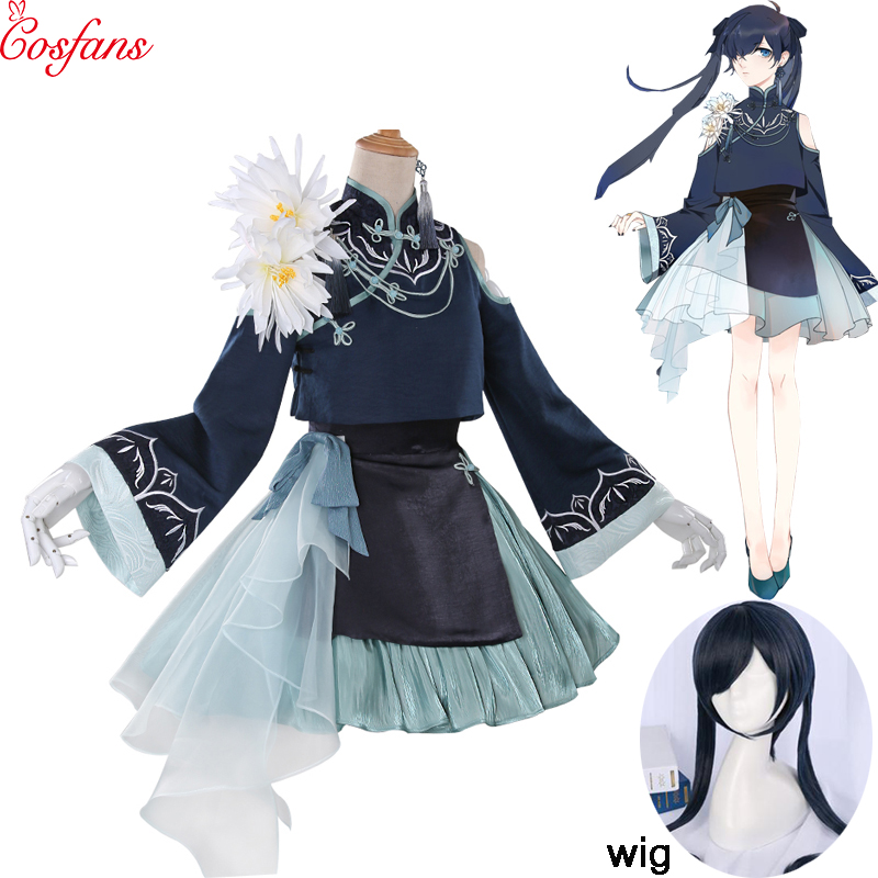 Black Butler Nightingale Ciel Phantomhive cosplay costume lolita Chinese dress suits uniform halloween costumes Anime outfit wig