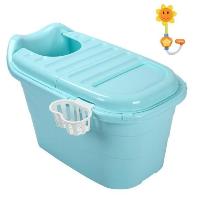 Baril de bain pour enfants bébé nouveau-né fournitures baignoire avec couvercle baril de bain baignoire surdimensionnée