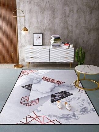 Nordique créatif géométrique mode tapis chambre salon canapé anti-dérapant tapis
