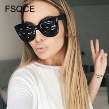 New Fashion Cat Eye Sunglasses Women Brand Designer Vintage Gradient Cat Eye Sun