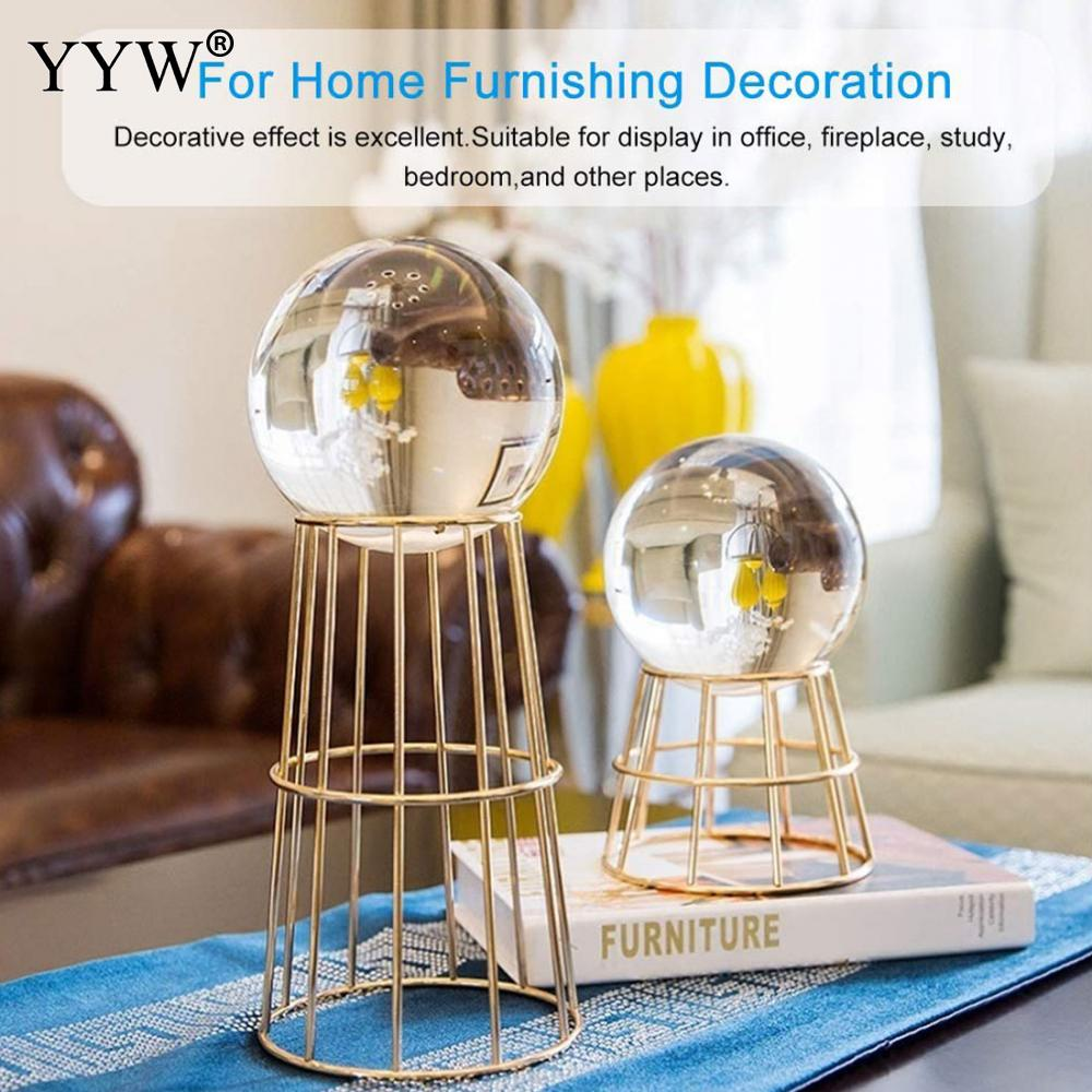 Crystal Clear Glass Crystal Ball Healing Sphere Photography Props Lensball Decor Gift Crystal Glass Decor Home Decorative Balls