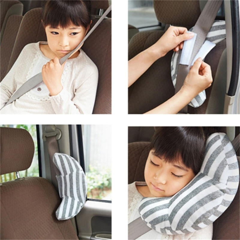 1 Pc Children Auto Car Seat Headrest Pad Shoulder Support Cushion Cotton Soft Sleep Pillow High Quality Car Neck Pillow