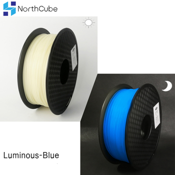 PLA 3D filament Glow In The Dark Filament 3D Printer filament Material 3D Plastic 1.75 mm Printer Luminous Filament blue фото