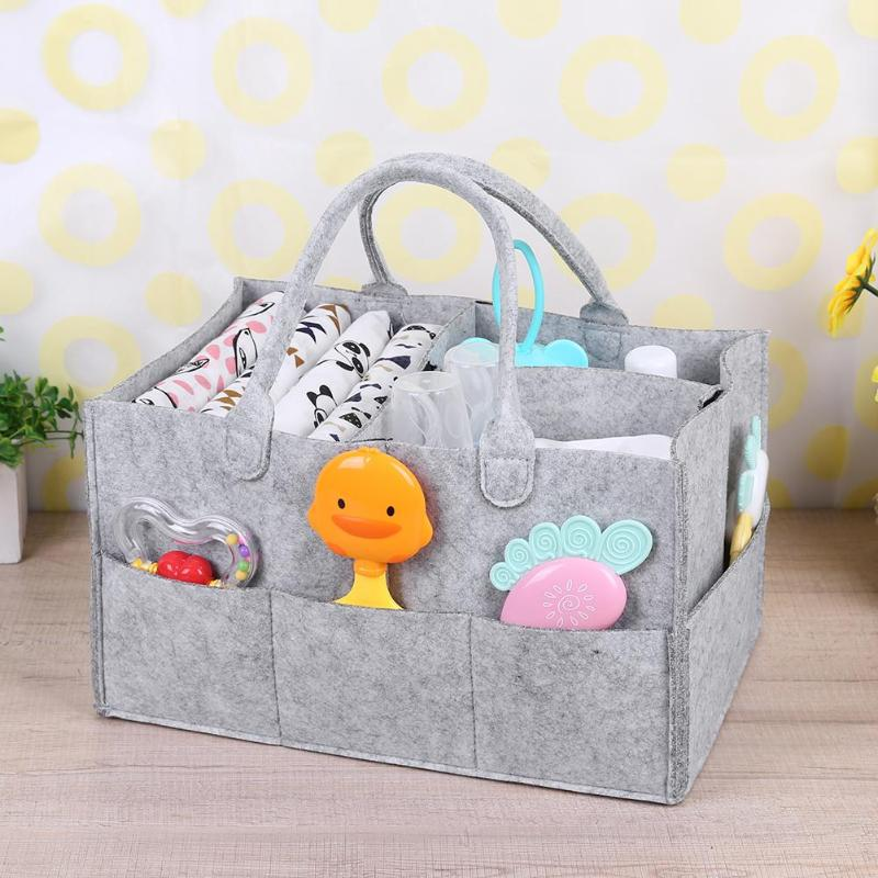 Baby Diaper Caddy Organizer Portable Holder Bag For Changing Table And Car, Nursery Essentials Storage Bins Baby Wipes Bag