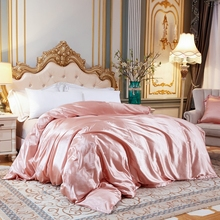 Solid Color Duvet Cover Ice Silk Satin Fabric Single Double Queen King Size Quilt Cover Soft Comfortable Bedding Cover