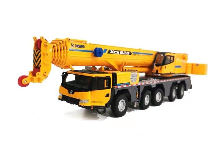 2019 New 1:50 Scale Model Diecast Construction Model XCMG XCA220 Truck Crane Model Replica Collection