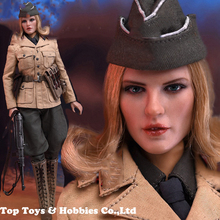 Full Set 1/6 Scale Female Military Solider offical North African officer figure Model AL100026 with Head Body for fans Collect цена