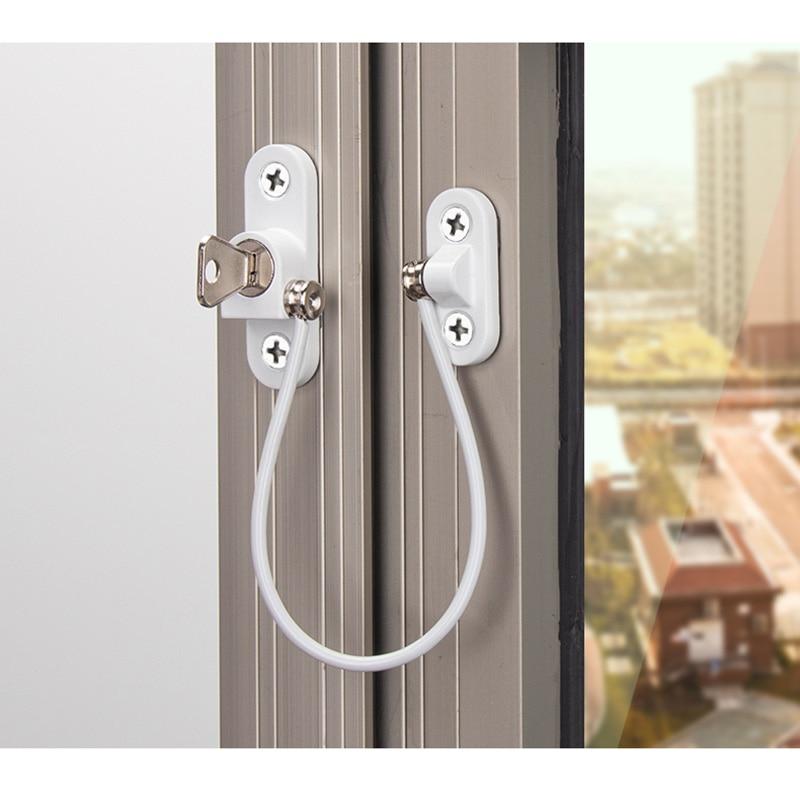 4 Pcs/lot Child Protection Window Lock Baby Safety Window Limiter Locks On The Windows Child Safety Infant Security Child Lock