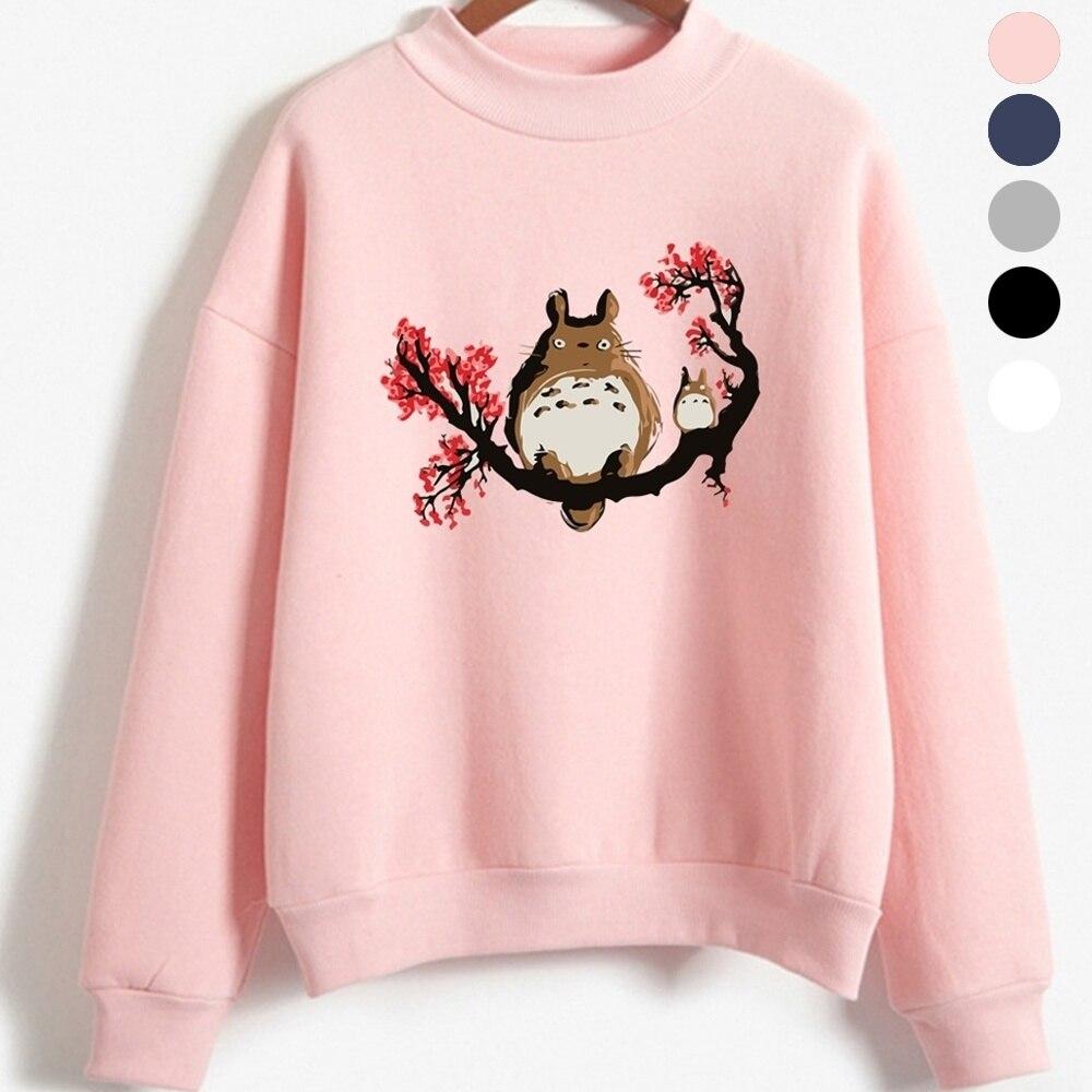 Sweatshirt Female Pullovers Coat Hoodie Print Plus-Size Long-Sleeve Cute My Tops Totoro