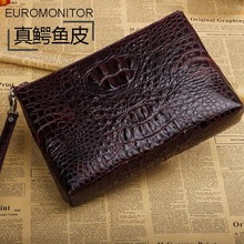 ourui true crocodile bag men Hand caught Wine red men handbags new Men clutch bag Men bag men hand bag crocodile bag