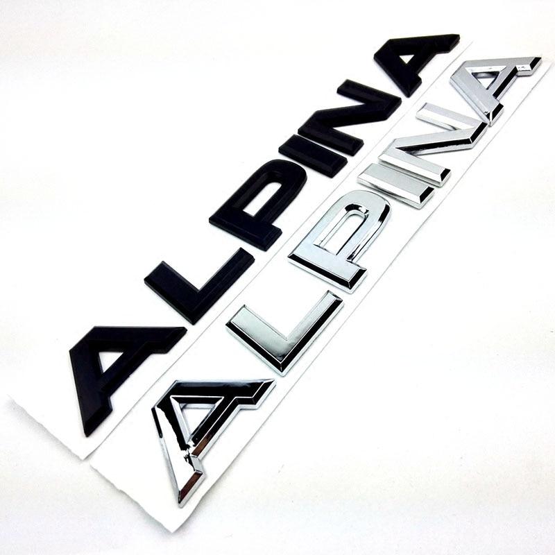 Автомобильная наклейка, отделка, Альпина, буквенный багажник, Задняя эмблема, креативный автомобильный стиль, наклейка для BWM ALPINA