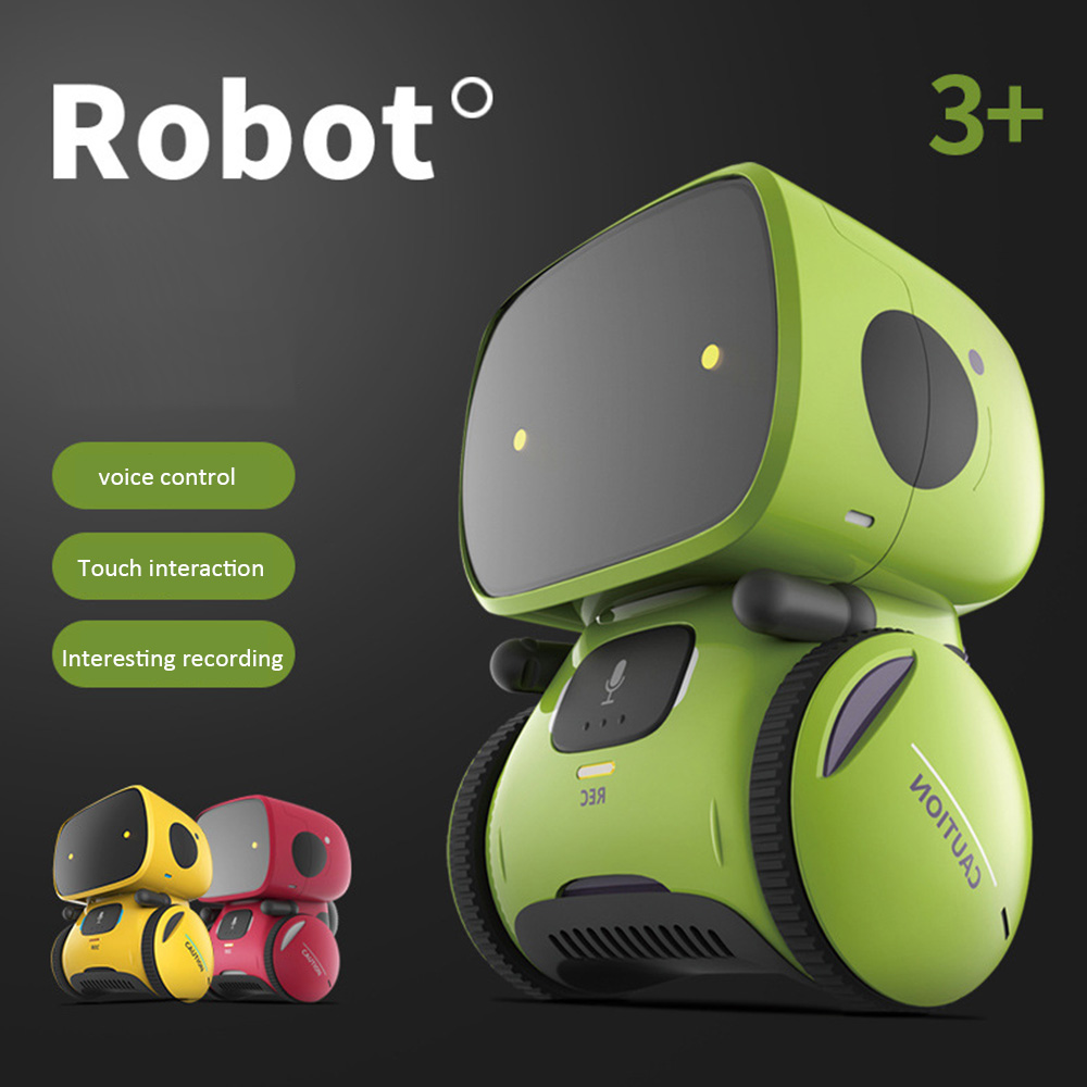 Smart Robot Early Education Voice Dialogue Puzzle Children Toys Intelligent Robots Touch-Sensitive Control Interactive Toy
