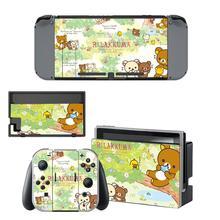 Động Vật Rilakkuma Nintendo Switch Miếng Dán Da NintendoSwitch Dán Da Cho Nintend Công Tắc Tay Cầm Và Joy Con Bộ Điều Khiển