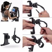 Tablet Stand holder Flexible Buckle Mount Gym Handlebar on spin bike Exercise Bikes