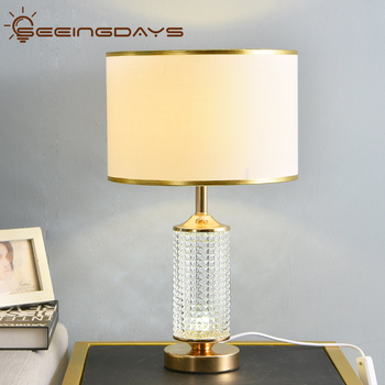 Clear Crystal Glass Led Table Lamps For Bedroom Living Room Night Lamps LED Desk Lamp Up and Down Shine Up 220v 110v E27
