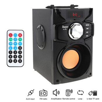Haoyes A900 Home Theater Wireless Wood Stereo Surround Bass Gun Bluetooth Speaker Support TF Card/U Disk/FM/AUX for Phones/PC