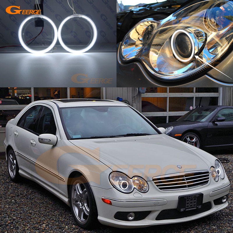 Excellent Ultra Bright CCFL Angel Eyes Halo Ring For Mercedes Benz C CLASS W203 C230 C320 C350 C55 C32 2001-2007 Xenon Headlight