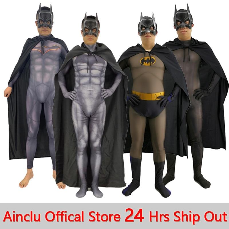 Brand New Batman Zentai Bodysuit Superhero Adult Costume