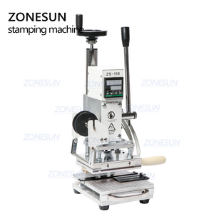 Image 5 - ZONESUN Hot Foil Stamping Machine For Customs logo Slideable Workbench  Leather Embossing Bronzing Tool for Wood PVC DIY Initial