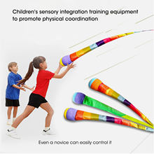 Hand Throwing Ribbon Rainbow Ball Sandbags Bean Bag Children Outdoor Games Kids Toys Boys Girls Interactive Toys Color Random