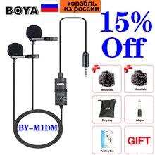 BOYA BY M1 BY M1DM mikrofon telefon Lavalier aparat mikrofon Lapel kondensator Mic dla xiaomi kołnierz iPhone Xs X Canon DSLR PK Rode