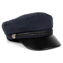 Berets-Caps Visor-Autumn-Cap Military-Cap Navy Newsboy Black Women for Pink Boina Mujer