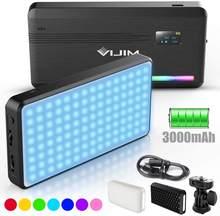 VIJIM-luz LED para vídeo VL196 RGB con marco de panal, luz suave con cámara incorporada de 3000mAH, lámpara de luz de relleno para fotografía, YouTube