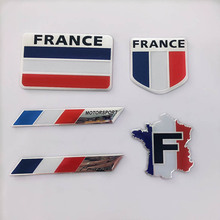 Country style Car stickers France racing car cover occlusion scratch sticker for Renault Peugeot Citroen DS PGO auto accessories