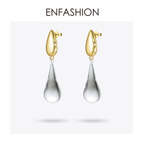 Image 3 - ENFASHIONหยดน้ำคริสตัลDropต่างหูสำหรับผู้หญิงสีทองยาวDangleต่างหูแฟชั่นเครื่องประดับDropshipping E191145