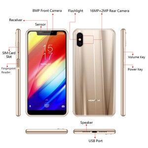 """Image 5 - Orijinal sürüm HOMTOM H10 5.85 """"Android 8.1MTK6750T Octa çekirdek Smartphone parmak izi kilidini 64GB 3500mAh 16MP 4G LTE cep telefonu"""