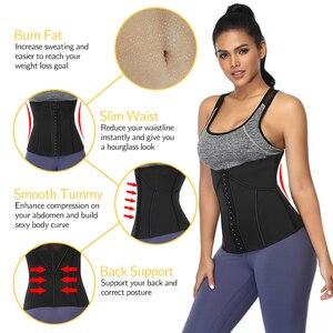 Image 3 - נשים מותניים מאמן גוזם מחוך כושר הרזיה חגורת גוף Shaper משקל אובדן סאונה זיעה ספורט מחוכים כושר רצועות דוגמנות