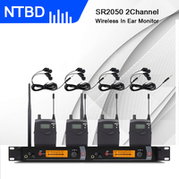 NTBD Stage Performance and Sound Broadcast SR2050 Professional Wireless In Ear Monitor System 4 Transmitters Restore Real Sound