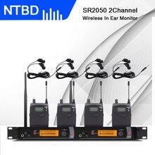 NTBD sahne performansı ve ses yayını SR2050 profesyonel kablosuz kulak monitör sistemi 4 vericiler geri gerçek ses