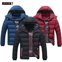 2019 men's winter down jacket Fashion Thick Warm Quality Zipper Hooded Down jackets men Casual Collar Coat Brand down jacket man