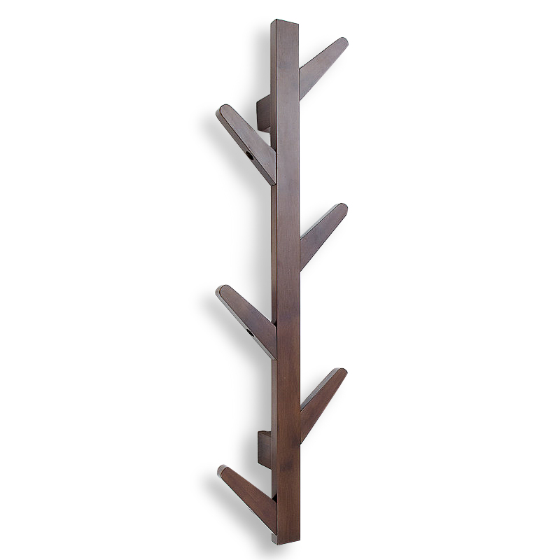 Nordic creative bamboo wall coat rack fashion tree bedroom hanger living room